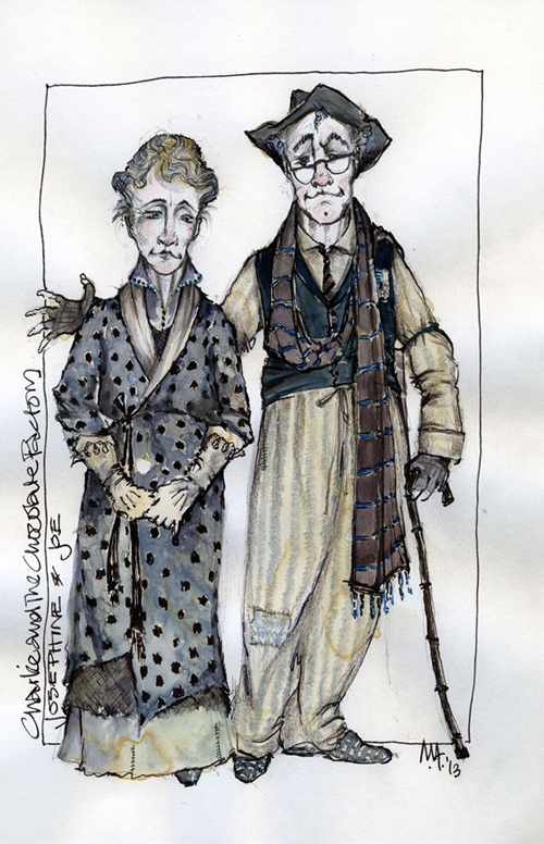 Charlie and the Chocolate Factory costume sketches
