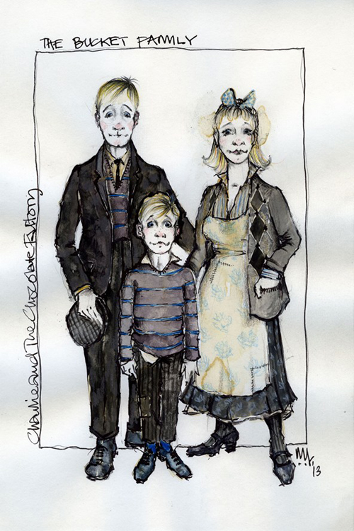Charlie and the Chocolate Factory costume sketches 1